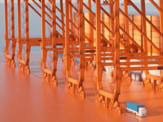 Terminal portuaire en 3D